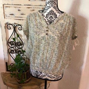 Vintage America floral print blouse